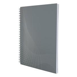 Spiralnotizbuch NOTIZIO BASIC A5 liniert 80Blatt hellgrau Kartoneinband Zweckform 7010 Produktbild