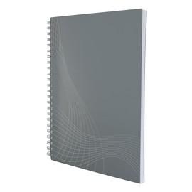 Spiralnotizbuch NOTIZIO BASIC A5 kariert 80Blatt hellgrau Kartoneinband Zweckform 7011 Produktbild