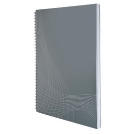 Spiralnotizbuch NOTIZIO BASIC A4 kariert 80Blatt hellgrau Kartoneinband Zweckform 7013 Produktbild