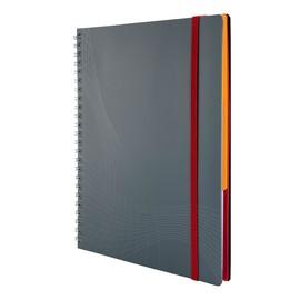 Spiralnotizbuch NOTIZIO MEDIUM A5 liniert 90Blatt grau Kunststoff-Cover Zweckform 7014 Produktbild