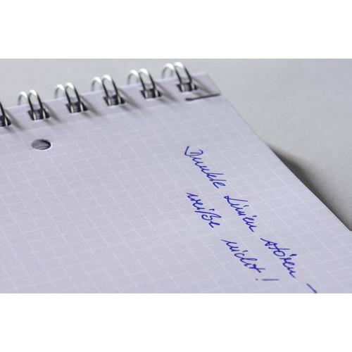 Spiralnotizbuch NOTIZIO MEDIUM A5 kariert 90Blatt grau Kunststoff-Cover Zweckform 7015 Produktbild Additional View 4 L