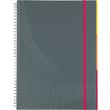 Spiralnotizbuch NOTIZIO MEDIUM A5 kariert 90Blatt grau Kunststoff-Cover Zweckform 7015 Produktbild Additional View 2 S