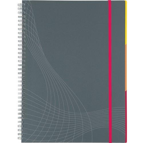 Spiralnotizbuch NOTIZIO MEDIUM A5 kariert 90Blatt grau Kunststoff-Cover Zweckform 7015 Produktbild Additional View 2 L