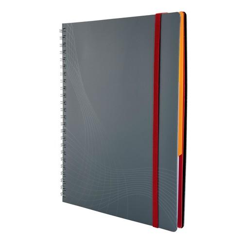 Spiralnotizbuch NOTIZIO MEDIUM A5 kariert 90Blatt grau Kunststoff-Cover Zweckform 7015 Produktbild