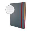 Spiralnotizbuch NOTIZIO MEDIUM A5 kariert 90Blatt grau Kunststoff-Cover Zweckform 7015 Produktbild Additional View 3 S