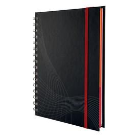 Spiralnotizbuch NOTIZIO PREMIUM A5 liniert 90Blatt dunkelgrau Hardcover Zweckform 7022 Produktbild