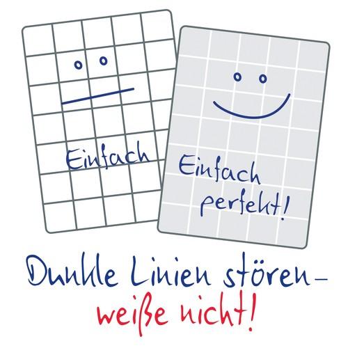 Spiralnotizbuch NOTIZIO PREMIUM A5 kariert 90Blatt dunkelgrau Hardcover Zweckform 7023 Produktbild Back View L