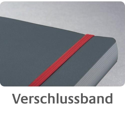 Spiralnotizbuch NOTIZIO PREMIUM A5 kariert 90Blatt dunkelgrau Hardcover Zweckform 7023 Produktbild Additional View 8 L