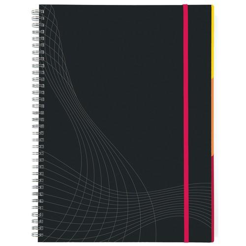 Spiralnotizbuch NOTIZIO PREMIUM A5 kariert 90Blatt dunkelgrau Hardcover Zweckform 7023 Produktbild Additional View 2 L