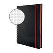 Spiralnotizbuch NOTIZIO PREMIUM A5 kariert 90Blatt dunkelgrau Hardcover Zweckform 7023 Produktbild Additional View 3 S