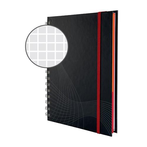 Spiralnotizbuch NOTIZIO PREMIUM A5 kariert 90Blatt dunkelgrau Hardcover Zweckform 7023 Produktbild Additional View 3 L