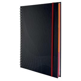 Spiralnotizbuch NOTIZIO PREMIUM A4 liniert 90Blatt dunkelgrau Hardcover Zweckform 7024 Produktbild