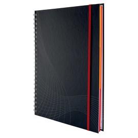 Spiralnotizbuch NOTIZIO PREMIUM A4 kariert 90Blatt dunkelgrau Hardcover Zweckform 7025 Produktbild