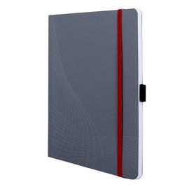 Notizbuch NOTIZIO MEDIUM A5 kariert 80Blatt grau Softcover Zweckform 7019 Produktbild