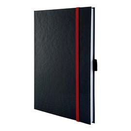 Notizbuch NOTIZIO PREMIUM A5 kariert 80Blatt dunkelgrau Hardcover Zweckform 7027 Produktbild