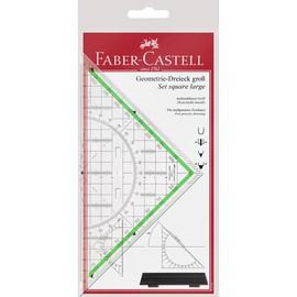 Geodreieck mit Griff groß 20cm transparent Faber Castell 177090 Produktbild