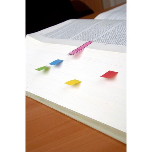 Haftstreifen Post-it Index Mini 11,9x43,2mm 7 Leuchtfarben transparent 3M 683-VAD1 (PACK=10x 35 STÜCK) Produktbild Additional View 1 L