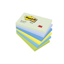 Haftnotizen Post-it Notes Dreamy Collection 127x76mm rainbowfarben Papier 3M 655MTDR (PACK=6x 100 BLATT) Produktbild