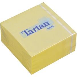 Haftnotizen Tartan Notes Würfel 76x76mm gelb Papier 3M 7676C-Y (ST=400 BLATT) Produktbild