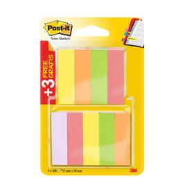 Haftstreifen Post-it Page Marker 15x50mm 5 Neonfarben Papier 3M 670-6+3 (PACK=9x 100 STÜCK) Produktbild