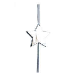 Anhänger Flashlight Stern mit Gummiband Ø 5,6cm silber Famulus B11016 Produktbild