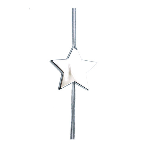 Anhänger Flashlight Stern silber mit Gummiband Ø 5,6cm Famulus B11016 Produktbild
