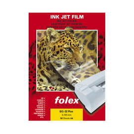 Inkjetfolie BG-32 PLUS A4 0,10mm transparent Folex 2930010044100 (PACK=50 BLATT) Produktbild