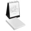 Tisch-Flip-Chart Aufstellringbuch mit 10 Hüllen A4 hoch 4Ringe Ringe-Ø20mm schwarz PVC Veloflex 4102080 Produktbild Additional View 1 S