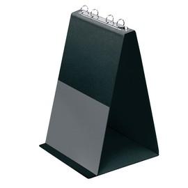Tisch-Flip-Chart Aufstellringbuch mit 10 Hüllen A4 hoch 4Ringe Ringe-Ø20mm schwarz PVC Veloflex 4102080 Produktbild