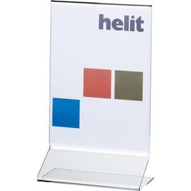 Tischaufsteller T A5 hoch 150x80x255mm Acryl Helit H2354102 Produktbild