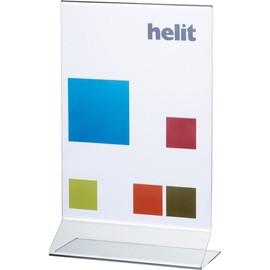 Tischaufsteller T A4 hoch 212x109x340mm Acryl Helit H2354002 Produktbild