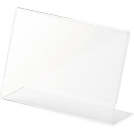 Tischaufsteller L 150x47x106mm quer Acryl Helit H2354502 Produktbild
