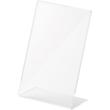 Tischaufsteller L 100x48x155mm hoch Acryl Helit H2354402 Produktbild