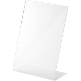 Tischaufsteller L A5 hoch 150x70x215mm Acryl Helit H2354202 Produktbild