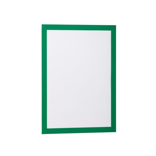 Informationsrahmen DURAFRAME A4 grün/transparent selbstklebend Durable 4872-05 (PACK=2 STÜCK) Produktbild Front View L