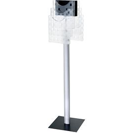 Boden-Prospektständer 310x310x1265mm 6 Fächer drehbar Aluminiumfuß Helit H6813802 Produktbild