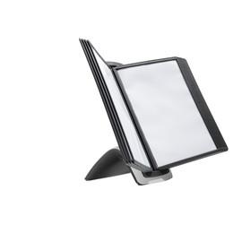 Sichttafelständer SHERPA STYLE Table 10 mit 10 Sichttafeln 5606 schwarz Durable 5855-01 Produktbild