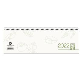 Querkalender 2022 30x10cm 1Woche/1Seite grau/grün Spiralbindung UWS Zettler 146-0700 Produktbild