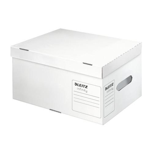 Archiv Container Infinity mit Deckel für A4 355x255x190mm weiß Leitz 6105-00-00 Produktbild Front View L