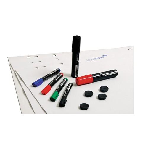 Starter-Kit für Flipchart 3x Blöcke + Stifteset + Magnete Legamaster 7-124900 Produktbild Additional View 1 L