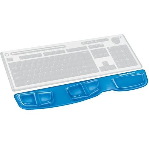 Handgelenkauflage Crystal Gel mit Health-v Auflage blau Fellowes 9183101 Produktbild Additional View 1 L