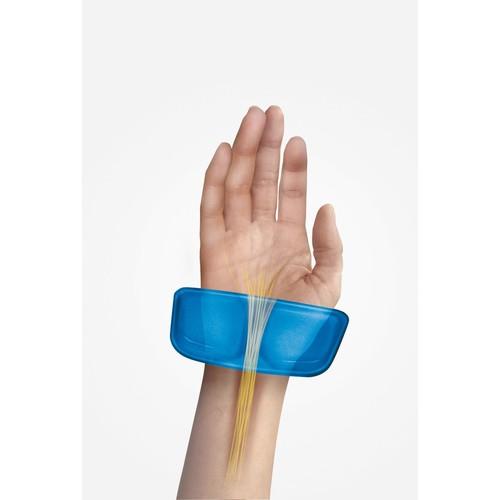 Handgelenkauflage Crystal Gel mit Health-v Auflage blau Fellowes 9183101 Produktbild Additional View 2 L