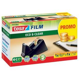 Tischabroller Easy Cut + 1Rolle EcoClear füllbar bis 19mm x 33m schwarz Tesa 59327-00000 Produktbild