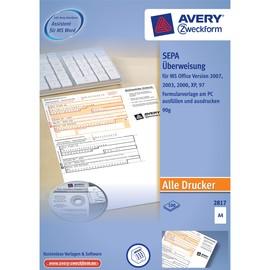 Software für EU Überweisungen 1 CD + 100 Formulare Zweckform 2817 (PACK = 1CD + 100 FORMULARE) Produktbild