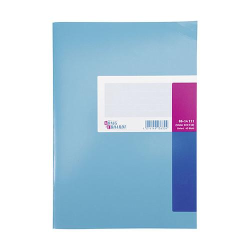 Geschäftsbuch liniert A4 40Blatt orangeroter Efalin- Umschlag König & Ebhardt 86-14111 Produktbild