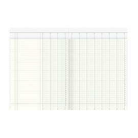 Spaltenbuch 10Spalten mit Kopfleiste A4 48Blatt hellblau/magenta hochglanz Karton König & Ebhardt 86-11601 Produktbild