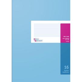 Spaltenbuch 16Spalten mit Kopfleiste A4 40Blatt hellblau/magenta hochglanz Karton König & Ebhardt 86-11661 Produktbild