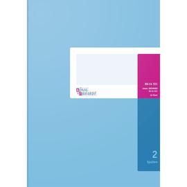Spaltenbuch 2Spalten ohne Kopfleiste A4 40Blatt hellblau/magenta hochglanz Karton König & Ebhard 86-14511 Produktbild