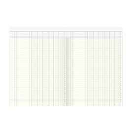 Spaltenbuch 6Spalten mit Kopfleiste 21,6x30,4cm 40Blatt orangeroter Efalin- Umschlag König & Ebhardt 86-11061 Produktbild