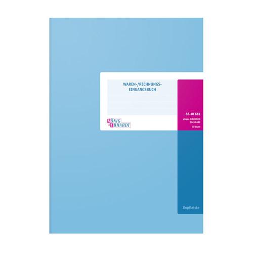 Waren + Rechnungseingangsbuch A4 40Blatt oranger Karton Schema über 2 Seiten König & Ebhardt 86-10661 Produktbild Additional View 1 L